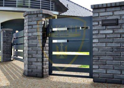 Sliding and entrance gate – Aluminum profile 200