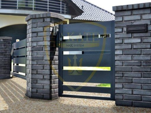 Sliding and entrance gate – Aluminum profile 200