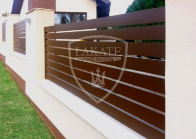 Dark brown ALU FENCE OPTIMAL