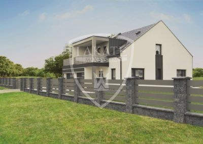 Drewbet poles with aluminum fence – Rybnik