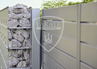 Gabion and aluminium fencing