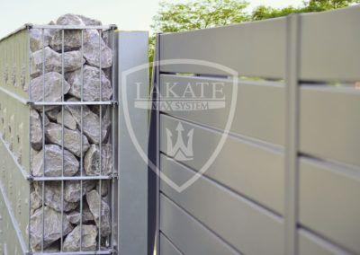 Gabion and aluminium fencing