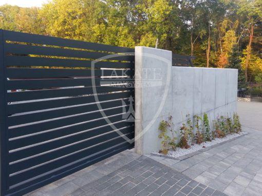 Modern aluminum sliding gate