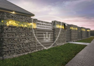 Steel gabion fencing