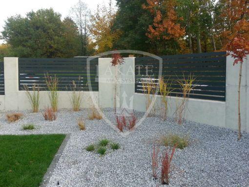 Aluminum fence, modern design