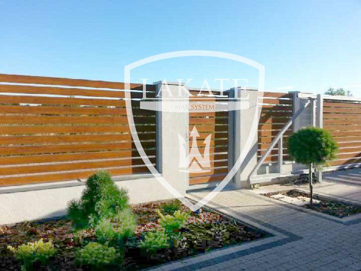 Ogrodzenie typu Alu Wood Fence (realizacja w woj. Mazowieckim)